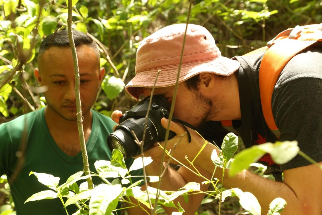 Conservation volunteers collect data on the wildlife they spot in Barra Honda National Park.